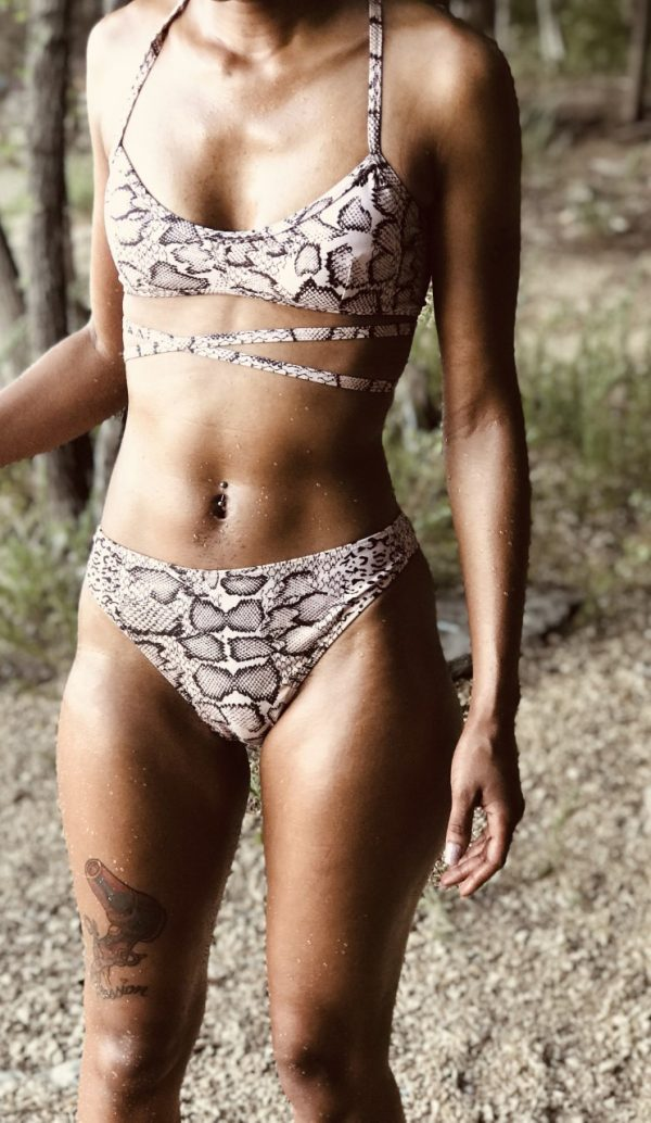 Two Piece Snake Print